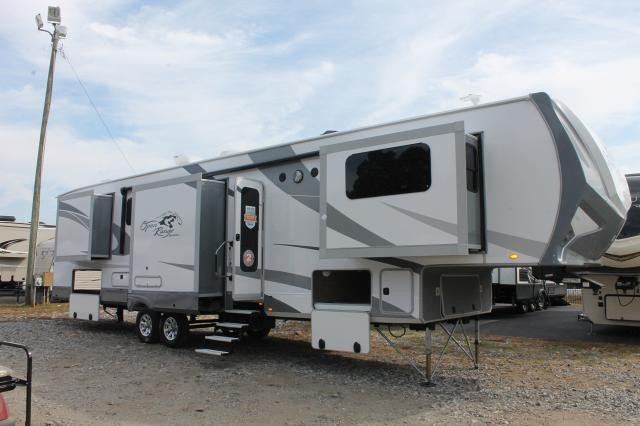 2020 Highland Ridge Open Range 376fbh 5th Wheel Camper Front Living Bunk Room Bath And 1 2 2 A C S 3rd A C Prep Residential Fridge 5 Slides Auto Level