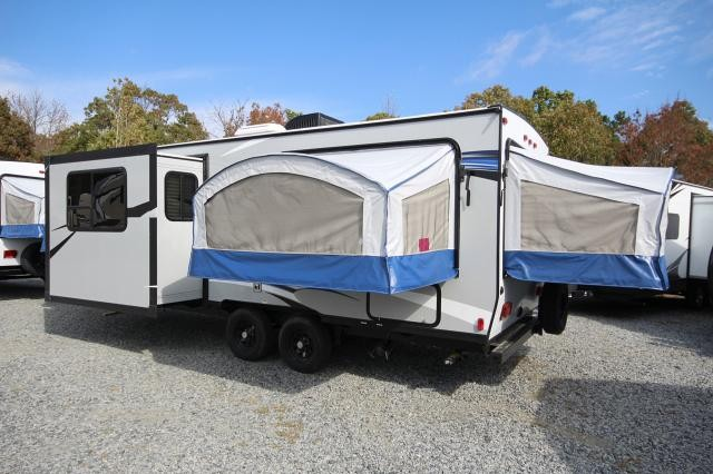 2018 Bullet Hybrid 2190EX 3 Fold Outs W/ Teddy Bear Queen Beds 1 Slide Spacious U-Shaped Dinette CONCORD NC