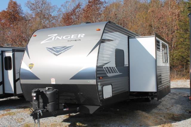 2018 crossroads zinger 338rr travel trailer toy hauler 1 for Separate garage
