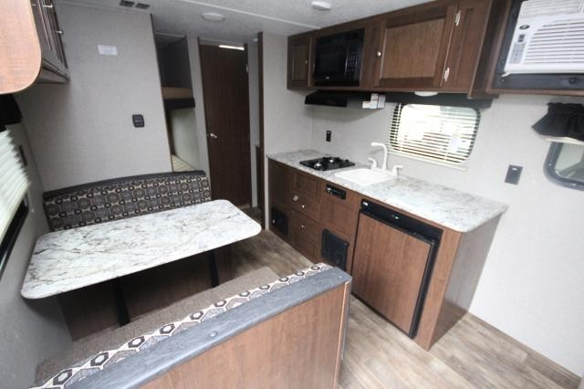 2018 Keystone Hideout 185LHS Rear Bunks Booth Dinette Jack Knife Sofa Full  Shower Sleeps 6 Great Starter Travel Trailer ...