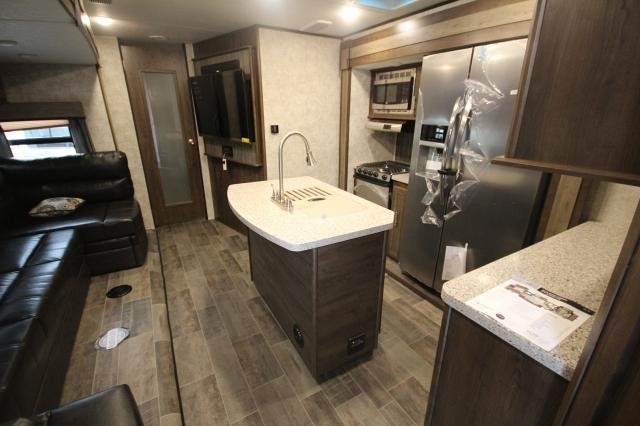 Mesa Ridge Rv >> 2018 Mesa Ridge Trailer 328BHS Rear Bunk House 4 Slides Super Sofa w/ Table Kitchen Island Large ...