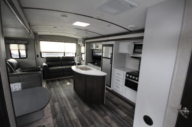 2019 Bullet Premier 34RL Rear Living Theatre Seating Booth Dinette Kitchen Island Corner Radius Shower Large Wardrobe 3 Slides New Design CONCORD NC