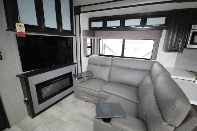 2019 Grand Design Momentum M-Class Toy Hauler 395M 2 Entry 1 1/2 Bath 3 Slides Theatre Seating Free Standing Dinette Entertainment Center w/ Fireplace CONCORD NC
