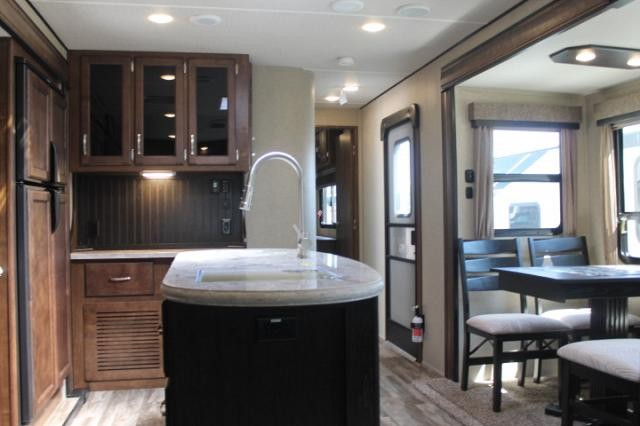 2019 Grand Design Reflection 315RLTS Travel Trailer Rear Living 3 Slides 2 Awnings W/D Prep 2 A/C's Fireplace Pantry Theater Seats Power Jacks Duncan SC