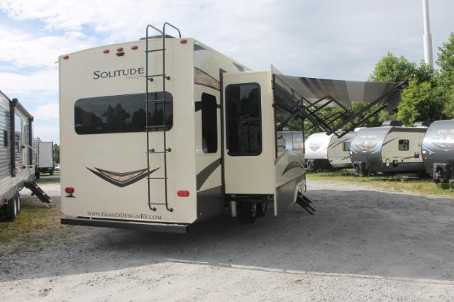 2019 Grand Design Solitude 310GK R Luxury 5th Wheel Camper Rear Living Entertainment Center W Fireplace