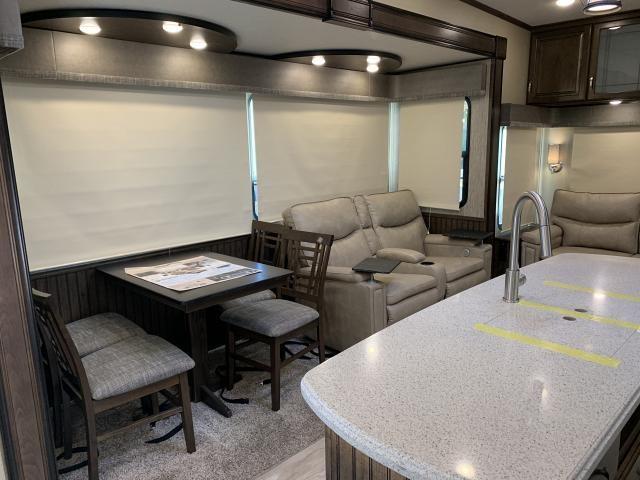 2019 Grand Design Solitude S-Class 3350RL Triple Slide Rear Living Luxury Fifth Wheel Duncan SC