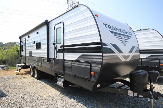 2019 Grand Design Transcend 26RLS Rear Living Recliners Tri-fold Sofa Booth Dinette Spacious Bath Full Shower One Super Slide 2 Entries CONCORD NC