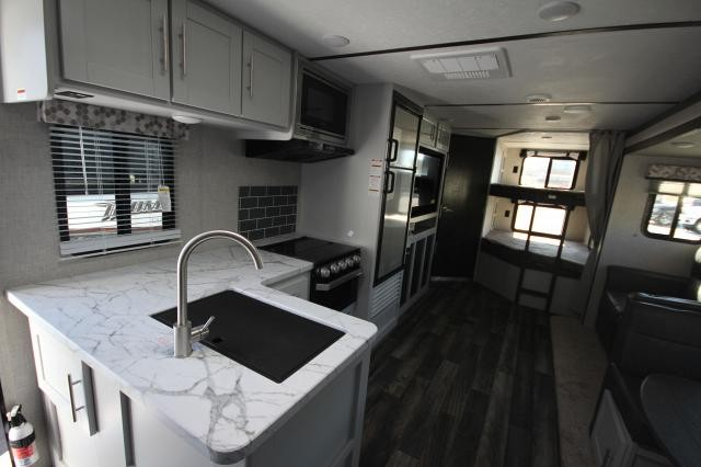 2019 Keystone Bullet Ultra Lite 290BHS Rear Double Bunks 2 Entries Tri-Fold Sofa L-Kitchen Counter Booth Dinette One Slide New Sleek Design Outdoor Kitchen CONCORD NC