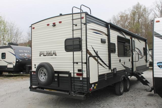 2019 Palomino Puma 28RKSS Travel Trailer Rear Kitchen 1 Slide Stainless Appliances Large Pantry Outside Kitchen w/Induction Cooktop Power Jacks Duncan SC